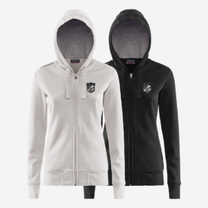 La veste à capuche Weson en blanc et noir