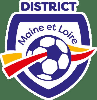 Le logo du district de football du Maine et Loire